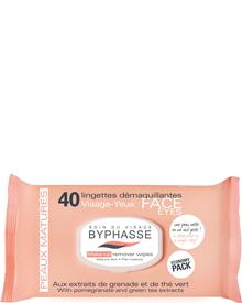 Byphasse - Make-up Remover Wipes Pomegranate Extract And Green Tea