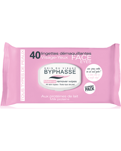 Byphasse Make-up Remover Wipes Milk Proteins All Skin Types