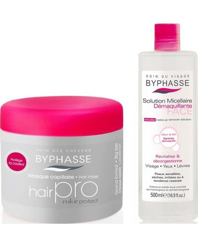 Byphasse Набор Маска для волос + Мицеллярная вода Hair Pro Hair Mask + Micellar Removerset set