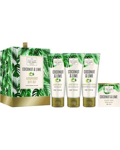 Scottish Fine Soaps Coconut & Lime Luxurious Set