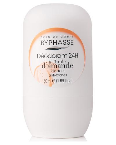 Byphasse Дезодорант роликовый 24h Deodorant Sweet Almond Oil