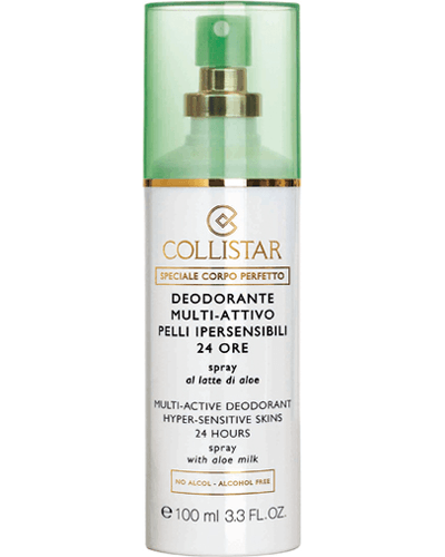 Collistar Multi-Active Deodorant 24 Hours Hyper-sensitive skins spray with aloe milk
