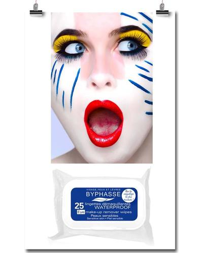 Byphasse Салфетки очищающие Waterproof Make-up Remover Wipes Sensitive Skin. Фото 1