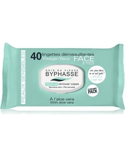 Byphasse Салфетки очищающие Make-up Remover Wipes Aloe Vera Sensitive Skin