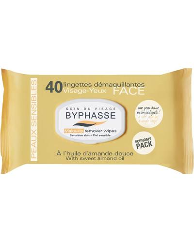 Byphasse Make-up Remover Wipes Sweet Almond Oil Sensitive Skin