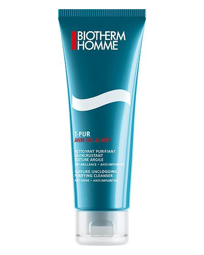 Biotherm Очищающий гель для лица Homme T-Pur Anti Oil & Wet Purifying Cleanser
