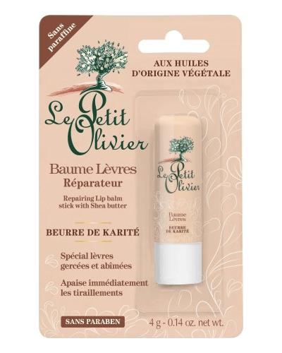 Le Petit Olivier Бальзам для губ ультраувлажняющий с Маслом Карите (Ши) Baume Levres Reparateur Beurre de Karite