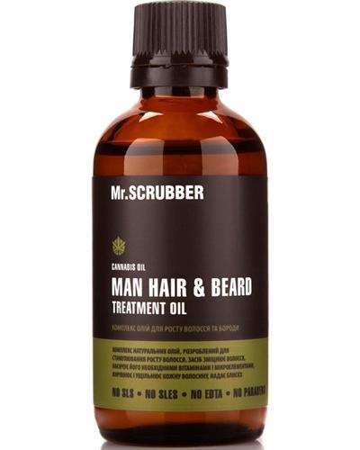 Mr. SCRUBBER Комплекс масел для роста волос и бороды Man Hair & Beard Treatment Oil