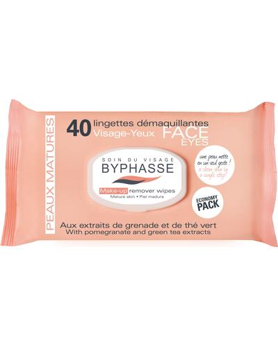Byphasse Make-up Remover Wipes Pomegranate Extract And Green Tea