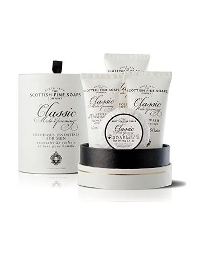Scottish Fine Soaps Classic Male Grooming Essentials Gift Set